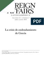 La Crisis De Endeudamiento De Grecia