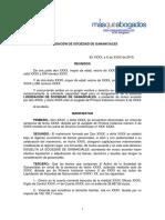 Convenio Regulador de Liquidacin de Sociedad de Gananciales