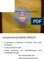 Internship Report on Arvind Lifestyle Brands