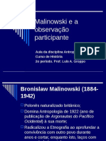 Malinowski e a Observação Participante Aula