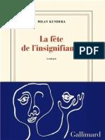 La Fete de l'Insignifiance - Kundera Milan