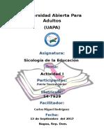 - Investigación de Las Definiciones de Sociología, Educación y Pedagogía Según Diversos Autores.