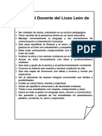 Perfil Del Docente Del Liceo León de Judá