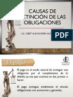 Causas de Extinción de Las Obligaciones - Obet Alexander Guillén Díaz
