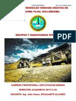 Clases de Equipos y Maquinarias Mineras