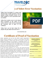 Important Tips of Yellow Fever Vaccination