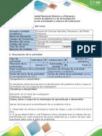 Guía de Actividades y Rúbrica de Evaluación - Actividad 3 Diagnosticar y Caracterizar El Problema de Investigación