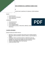 Clientes Externos e Internos de La Empresa Quimica Suiza