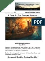 Pastor Bill Kren's Newsletter - October 8, 2017
