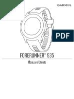 Manuale Garmin Forerunner 935
