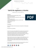Tarta de Ricota y Espinaca