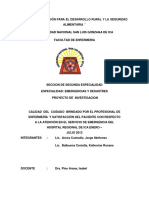 CALIDAD  DEL  CUIDADO  BRINDADO POR EL PROFESIONAL DE ENFERMERÍA  Y SATISFACCIÓN DEL PACIENTE CON RESPECTO  A LA ATENCIÓN EN EL SERVICIO DE EMERGENCIA