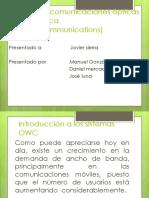 Sistema de Comunicaciones Ópticas OWC (Óptica