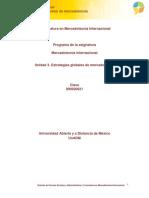 Unidad 3. Estrategias Globales de Mercadotecnia
