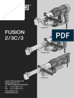 Leister Plastic Welding BA FUSION 2 3C 3 All