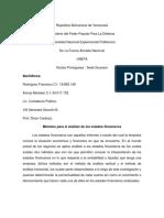 Ensayo Métodos Para El Análisis De Los Estados Financieros