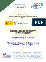LP No.001-2015 PBC Licitación Pública - Obras AP Acoyapa