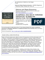 An Empirical Analysis of Terrorism Deprivation Islamism and Geopolitical Factors
