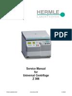 centrifuge rotor selection and maintenance 2 centrifugation rh scribd com hermle z200a centrifuge service manual hermle centrifuge z206a service manual
