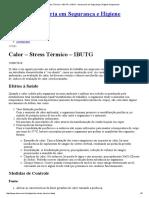 Calor – Stress Térmico – IBUTG « ASHO - Assessoria Em Segurança e Higiene Ocupacional