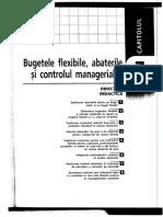 Bugetele Flexibile,Abaterile Si Controlul Managerial I