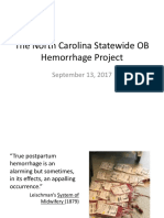 PQCNC OBH Kickoff CMOP Learning Session - The North Carolina Statewide OB Hemorrhage Project