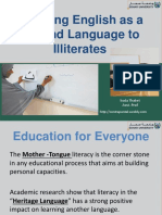 teaching a second language to illiterates- presentation