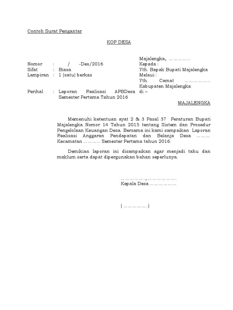 Contoh Surat Pengantar Docx
