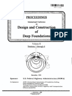 Proceedings on Design and Construction of Deep Foundation FHWA