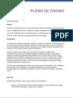 Plano de Ensino - História do Design EAD