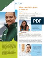 Donation Myths Facts - Spanish (PDF)