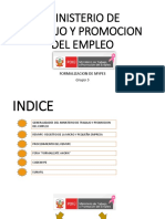 Ministerio de Trabajo y Promocion Del Empleo Final