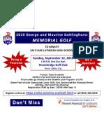 Poster Golf Tournament 10