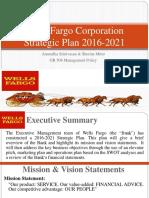 wells fargo corporation - strategic plan - team project