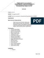 Acta 001- Debate Ejemplo
