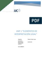 ANP N° 1  - Elementos de interpretación legal