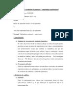 Taller de Resolucion de Conflictos y Sentido Pertenencia Propuesta