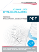 Guideline Short Assessment of Lifting Holding and Carrying
