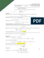 Corrección primer parcial Cálculo III (Ecuaciones diferenciales) 4 de octubre de 2017