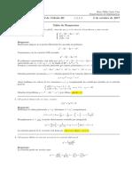 Corrección primer parcial Cálculo III (Ecuaciones diferenciales) 2 de octubre de 2017