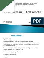 Proiectarea Unui Brat Robotic