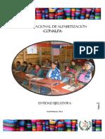 Estado situacional del Proceso de Alfabetización en Guatemala, Febrero 2012