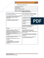 Planificacion Anual Matematicas 5basico 2017