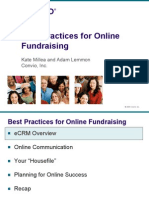 5 Convio Best Practices for Online Fundraising