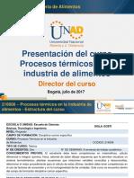 Presentacion Del Curso Procesos Térmicos