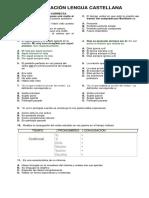Octavo Evaluación Lengua Castellana
