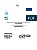 US-Pak Interreligion Consortium (UPIC) - Lahore Seminar Plan 21-3-2018
