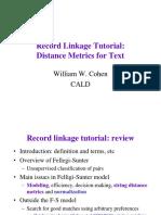 Distance metrics for strings