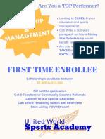 leadership   managment scholarship award