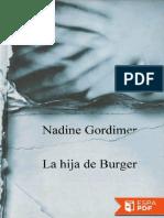 La Hija de Burger - Nadine Gordimer